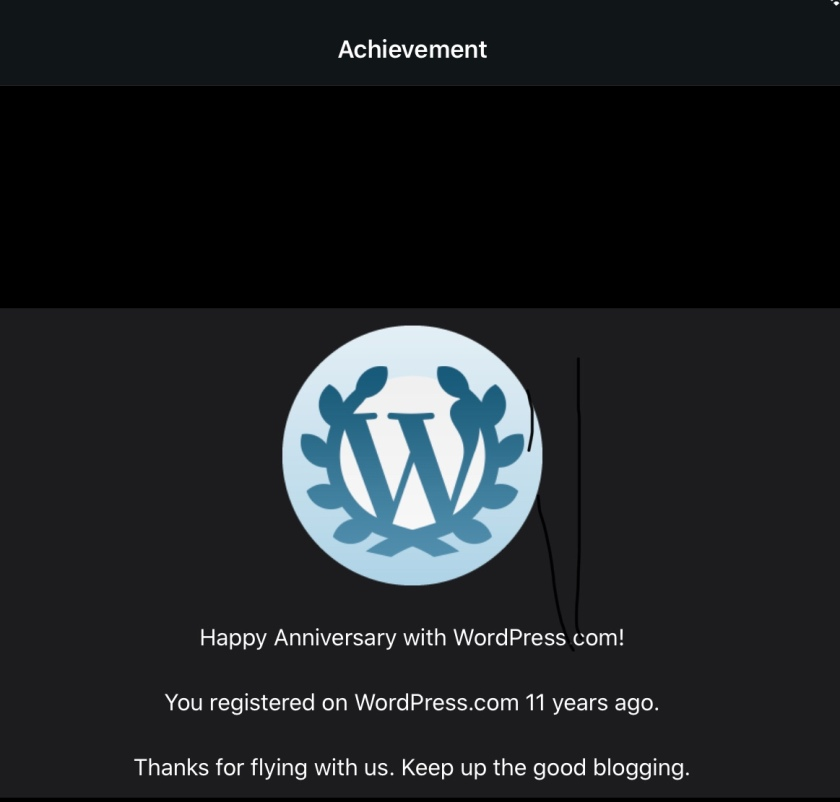 You registered on WordPress.com 11 years ago.